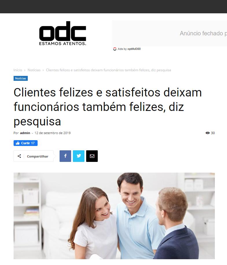 SITE OLHAR DA CIDADE: Clientes felizes e satisfeitos deixam funcionários também felizes, diz pesquisa