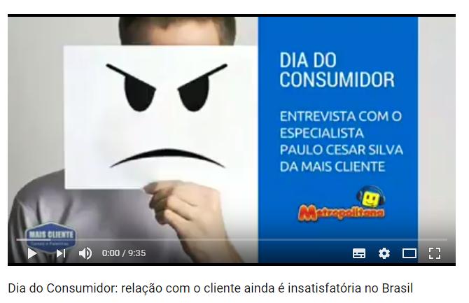 Rádio Metropolitana: Entrevista para o Dia do Consumidor sobre como a relação com o cliente ainda é insatisfatória no Brasil
