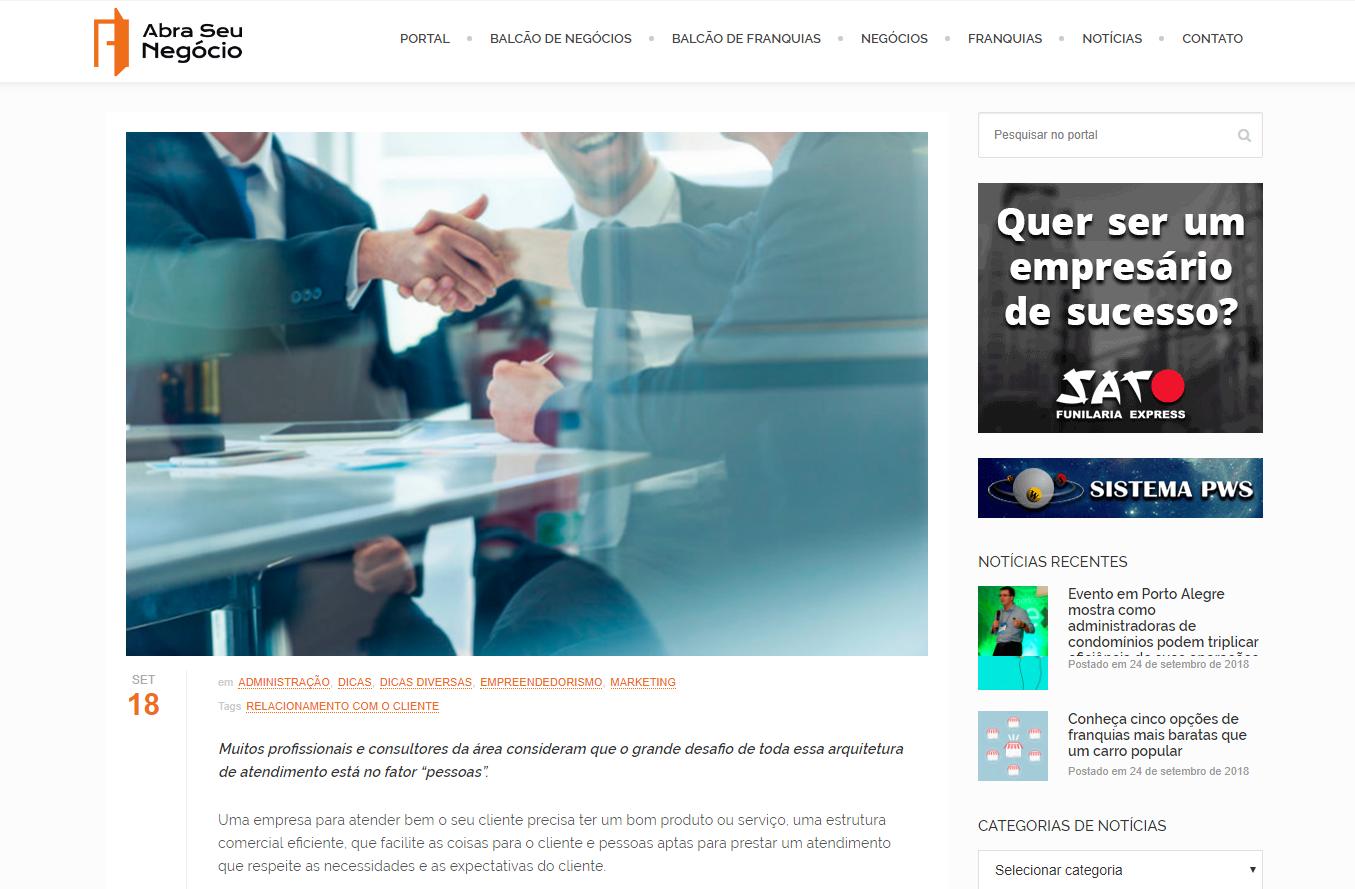 Portal Abra Seu Negócio: o segredo do relacionamento com o cliente